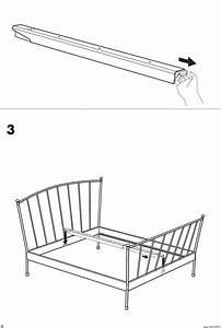 Ikea Ibestad Bed Frame Full Queen Assembly Instruction