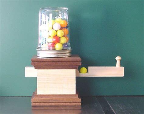 gumball machines wood crafts diy gumball machine