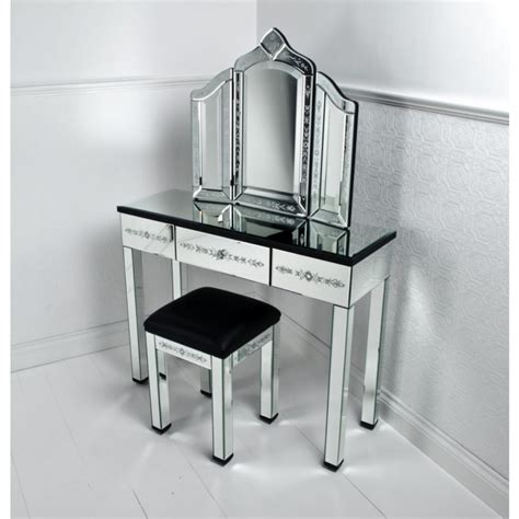 mirrored vanity table corner vanity table with mirror shelby 4167