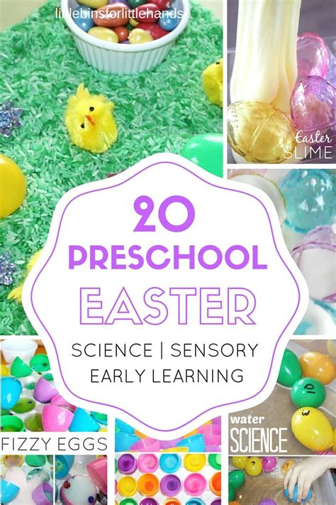 preschool easter activities science stem and sensory play 326 | Preschool Eater activities for science sensory math fine motor kids