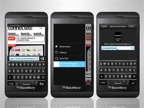 how to use the blackberry 10 browser