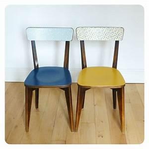 Chaise Bistrot Vintage : paire de chaises bistrot vintage retro ann es 50 pinterest chaise bistrot vintage r tro ~ Teatrodelosmanantiales.com Idées de Décoration