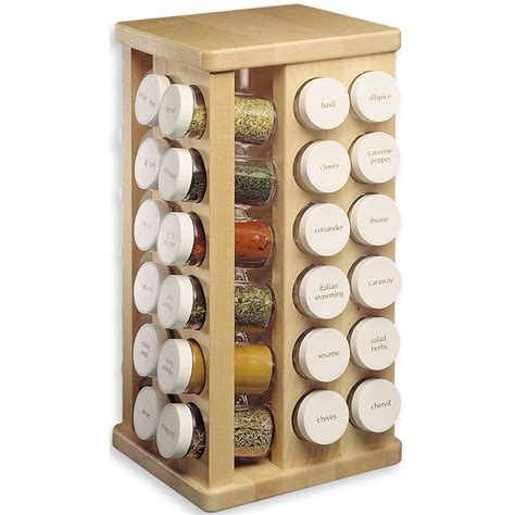 Spice Rack And Bottles wood carousel spice rack with glass spice bottles
