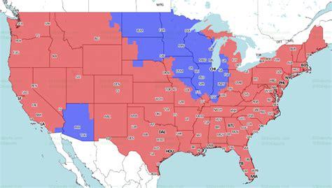 nfl tv schedule  broadcast map  week