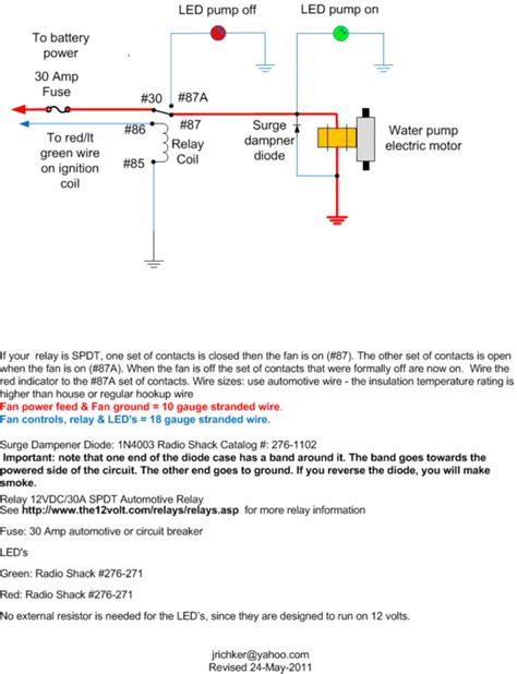 Wiring Diagram For Water by Advice On Wiring Up A Csr Electric Waterpump Mustang