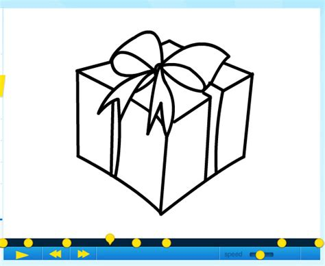 how to draw a christmas gift part 2 by sketchheroes on