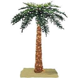 faux tropical royal 7 foot pre lit palm tree free shipping today overstock 12329521