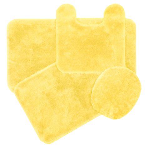 yellow bath rugs royale butter yellow bath rug ensemble bedbathhome