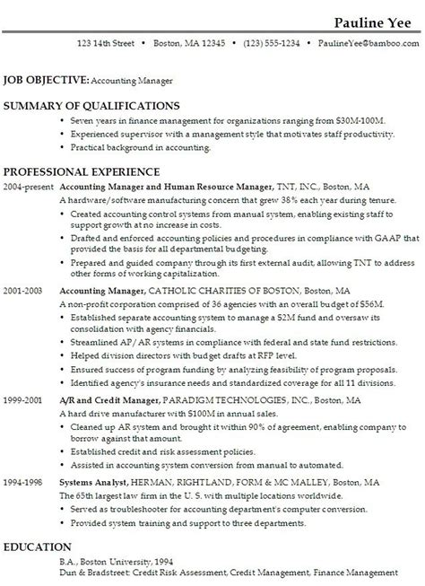 Chronological Resume Of An Accountant by Best 25 Accounting Manager Ideas On