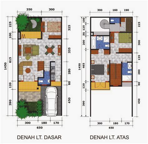 sketsa denah rumah minimalis modern  terbaru desain