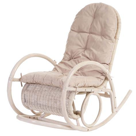 sedia a dondolo legno sedia a dondolo esmeraldas legno rattan 115x58x101cm