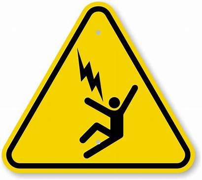 Hazard Symbol Electrocution Iso Warning Sign Voltage