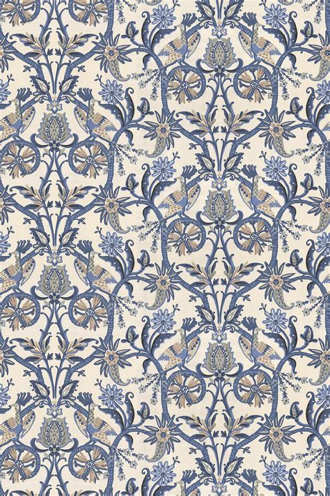 Peacock Garden by Thibaut Blue : Wallpaper Direct