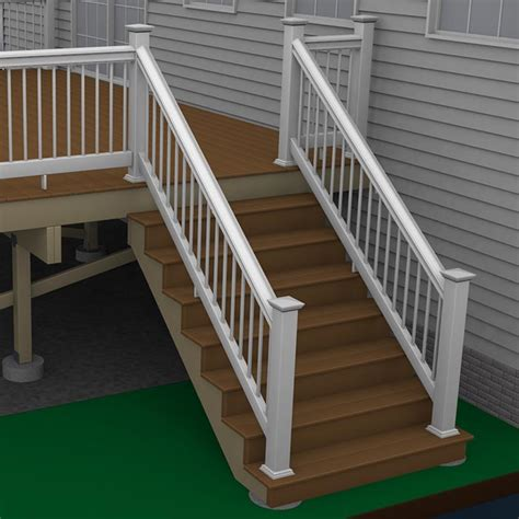 How To Build A Deck Composite Stairs And Stair Railings