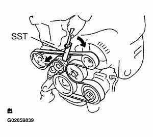 2003 Toyota Highlander Serpentine Belt Routing And Timing