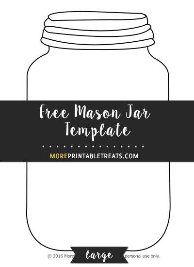 mason jar template large