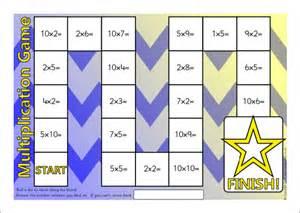 Math Multiplication Board Games