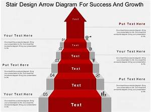 Stair Design Arrow Diagram For Success And Growth Flat