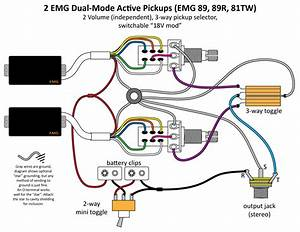 Active Pickup Guitar Wiring Diagram