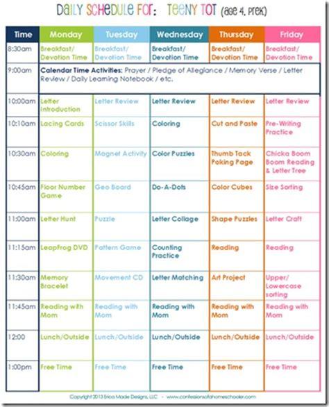 daily homeschool schedule preschool confessions of a 757 | PreschoolSchedule