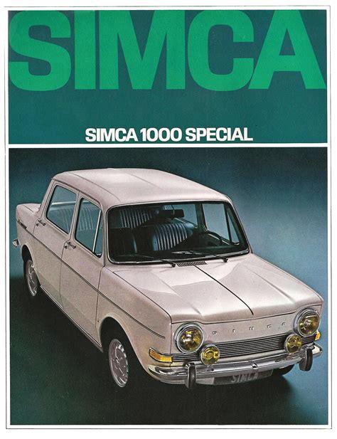 1968 Simca 1000 brochure