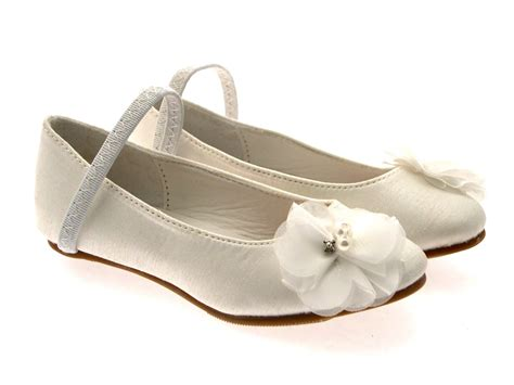 Wedding Sandals : Girls Satin Wedding Bridesmaids Shoes Low Heel Party