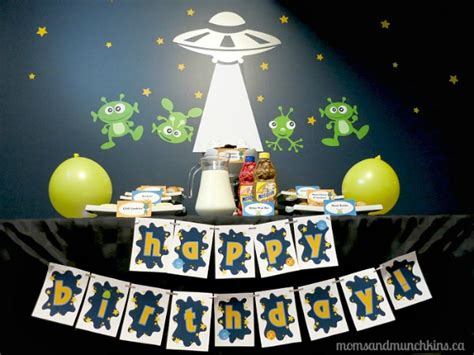 space birthday party ideas moms munchkins