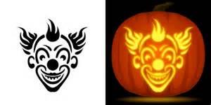 Clown Pumpkin Stencils Free evil clown pumpkin carving stencil free pdf pattern to