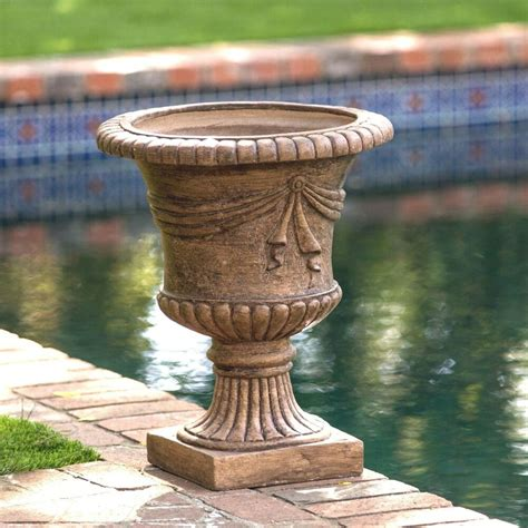 Outdoor Vases And Urns by Light Brown Decor Outdoor Garden Urn