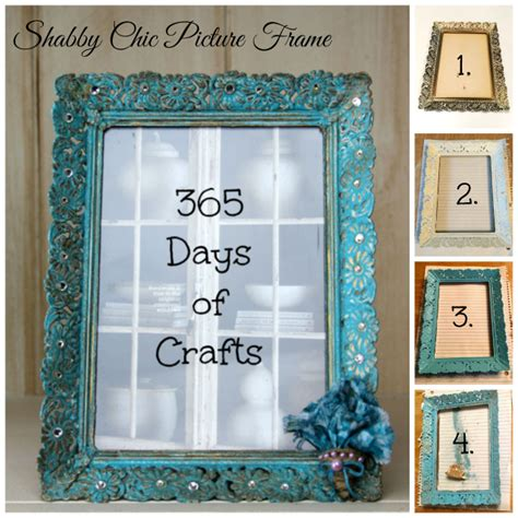 how to shabby chic a picture frame diy shabby chic picture frame 365 days of crafts diy art and craft inspiration for you and