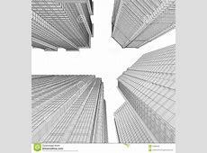 Skyscraper Rendering In Lines Stock Photography Image