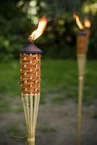 Backyard tiki torches citronella oil