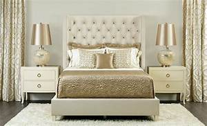Champagne dream Salon upholstered bed - Traditional