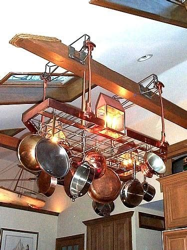 kitchen island lighting with pot rack 15 ideas of pot rack with lights fixtures 9409