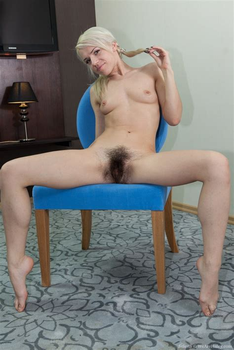 Selena Is A Blonde Babe That Loves To Play This Hairy