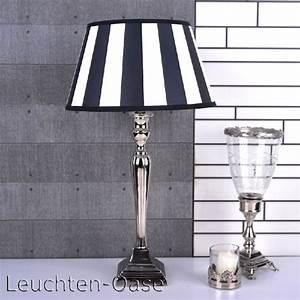 Lampenschirm Schwarz Weiß Gestreift : tischlampe tischleuchte metall chrom lampenschirm lampe licht schirm ebay ~ Indierocktalk.com Haus und Dekorationen