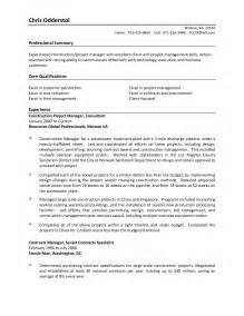 Construction Project Management Skills Resume by Contract Manager Resume Best Resumes