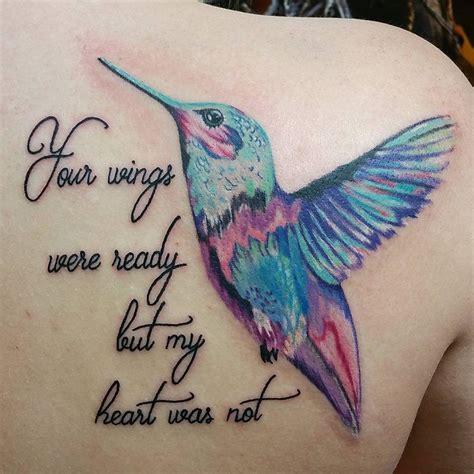 watercolor hummingbird tattoo tattoos pinterest