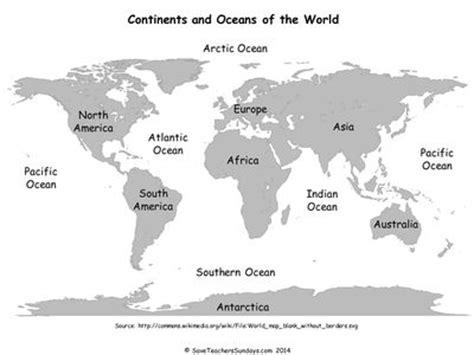 continents  oceans ks map  plenaryppt history