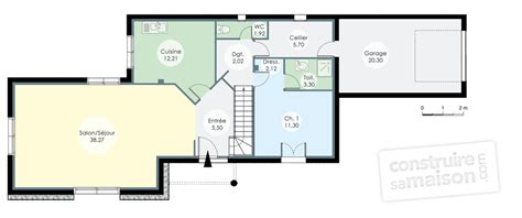 faire plan cuisine plan cuisine en l avec ilot 14 villa d233tail du plan