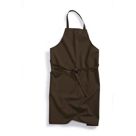 tablier professionnel cuisine tablier de cuisine professionnel à bavette marron