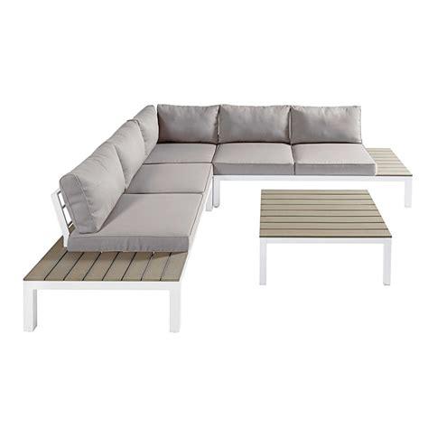 chambre garcon pas cher salon de jardin 6 places en composite aluminium blanc et coussins gris clair andaman maisons
