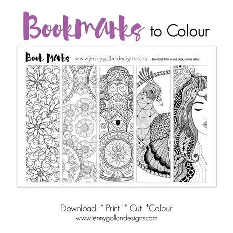 Colour Your Own Bookmarks (With images) Coloring