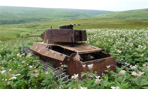 abandoned army tanks     part  nature