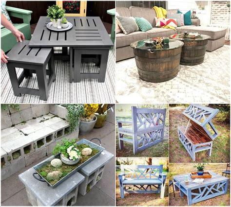 outdoor coffee table ideas 13 diy outdoor coffee table ideas 3820