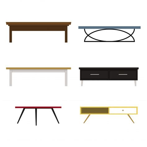 sofá restaurante vetor set of different shape of tables sofa table vector