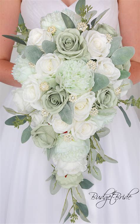davids bridal mint green wedding bouquet