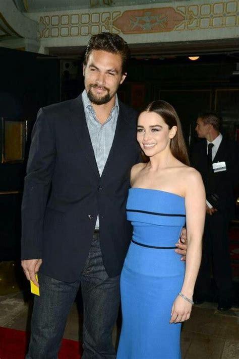 Jason Momoa & Emilia Clarke | Hbo game of thrones, Clarke ...