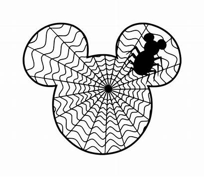 Mickey Halloween Mouse Spider Clip Disney Clipart