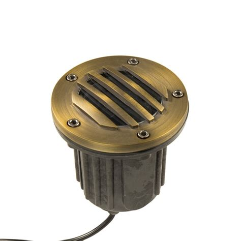 in ground well light brass bully grate mr16 well light low voltage landscape